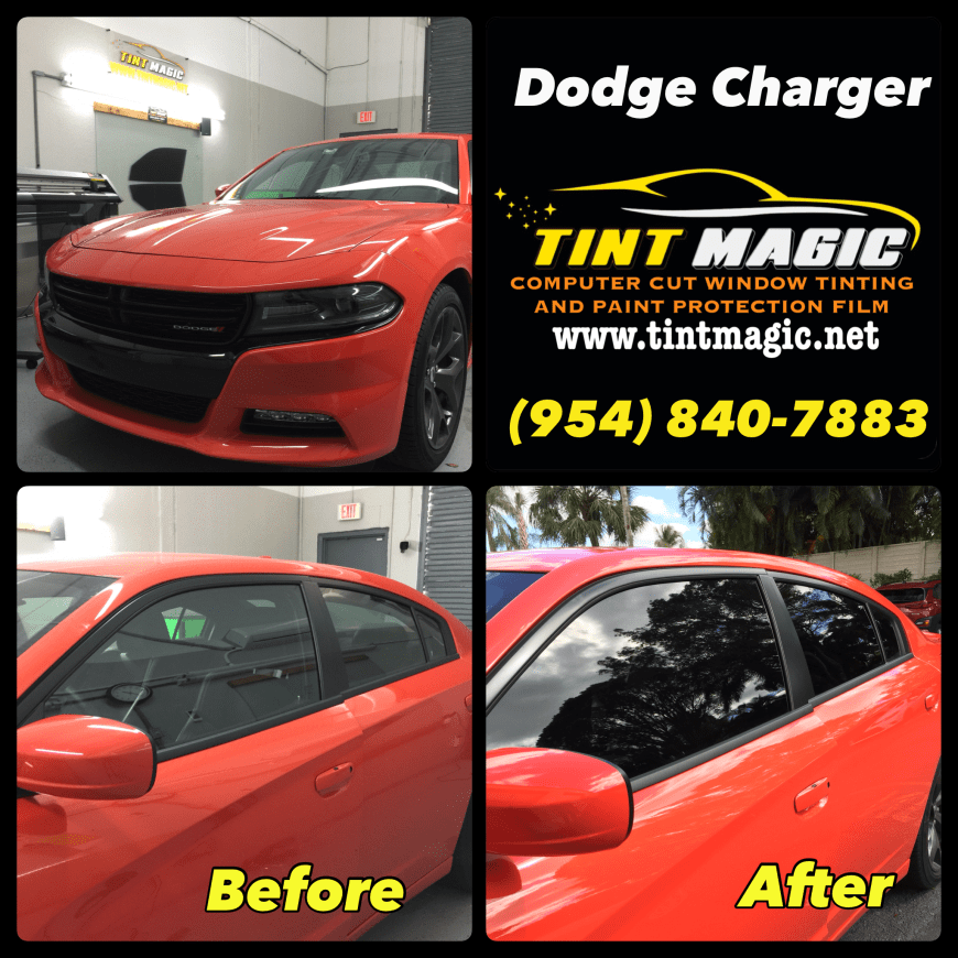 Dodge Charger 2020 at Tint Magic Window Tnting Coral Springs