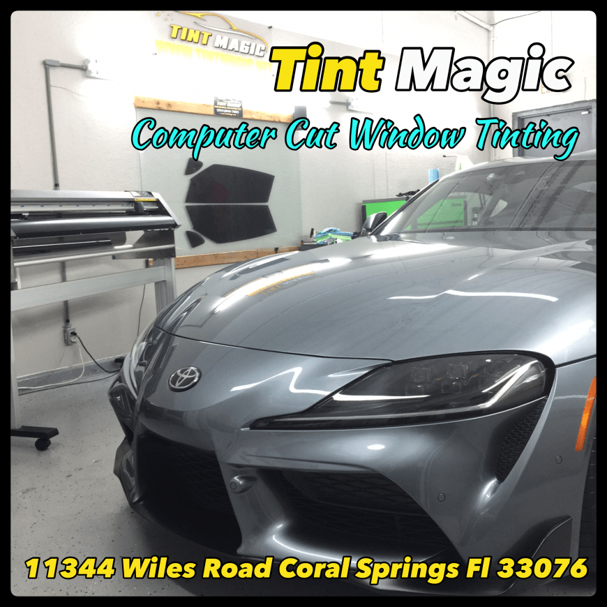 Toyota Supra at Tint Magic Window Tinting Coral Springs