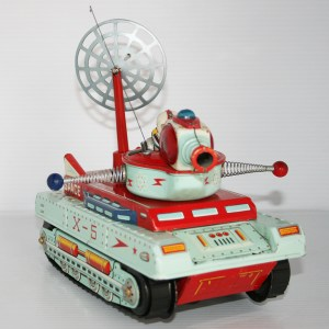 Cragstan Sankei 60's Space X-5 Moon Patrol Vehicle Battery Operated 9.5 inches (24 cm) original tin toy space vehicle