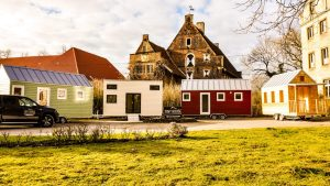 Unsere Tiny Houses in Reih und Glied