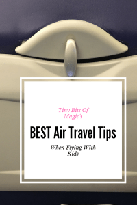 air travel tips when traveling with kids