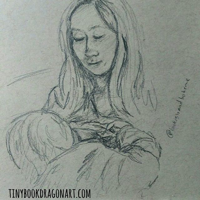 Final #dailysketch inspired by @bookishandboheme s beautiful photo. #motherhood #nursing #unschooling #gentleparenting #motherandchild #art #pencil #pencilsketch #dailydrawing #illustration #mama