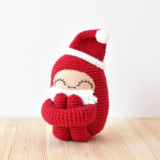 Santa Curlie Add-On Pattern