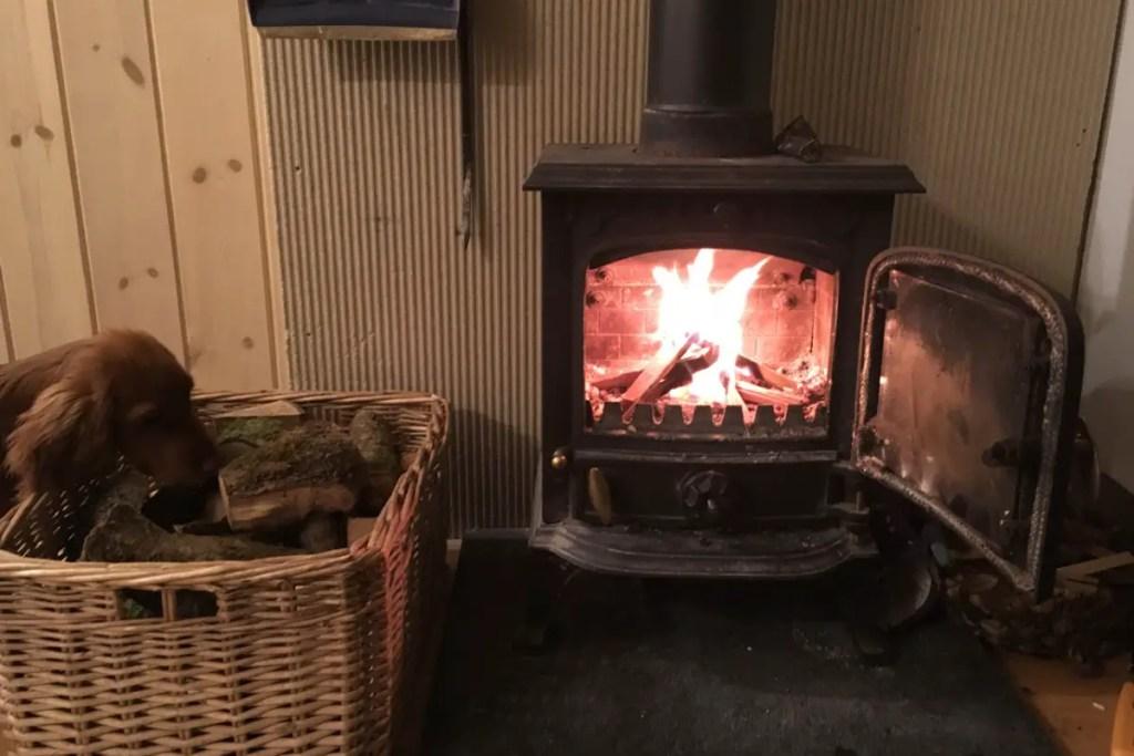 small cast iron wood burning stove ravens retreat