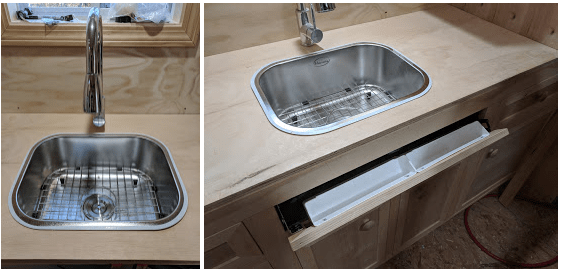 tiny house sink. Tiny House Kitchen Drawer Sink V