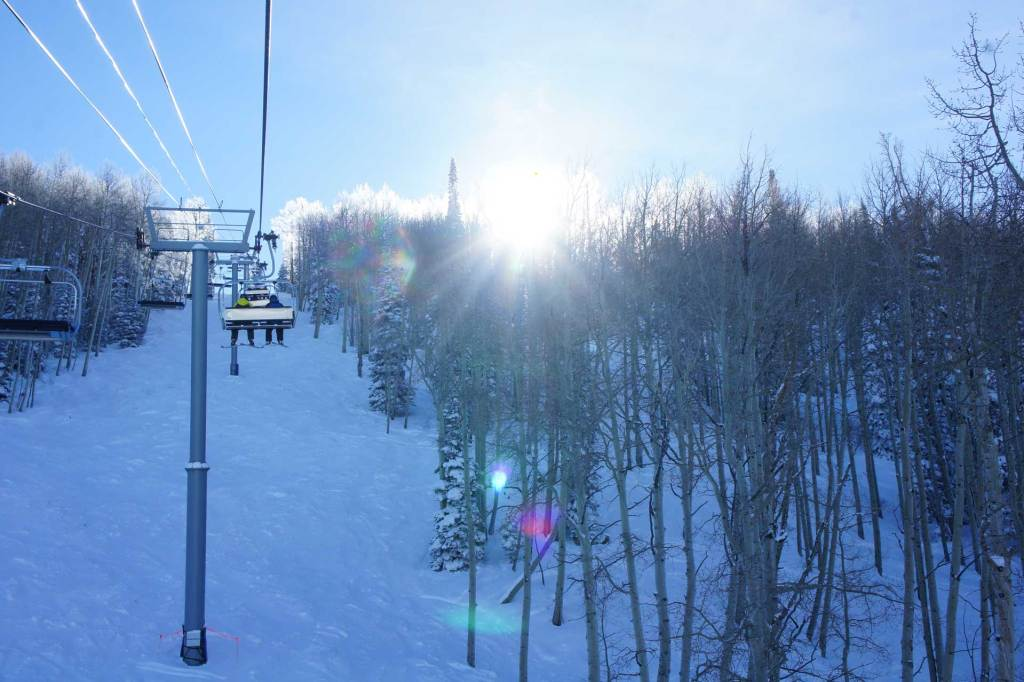 Powderhorn Resort Ski Lift in Mesa, Colorado