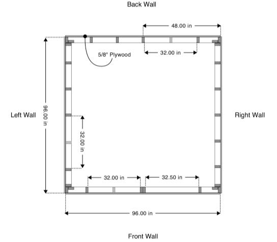 Download Free House Plans U2013 8×8 Tiny House V.2