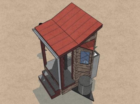 nine-tiny-feet-cabin-rain-water-collection