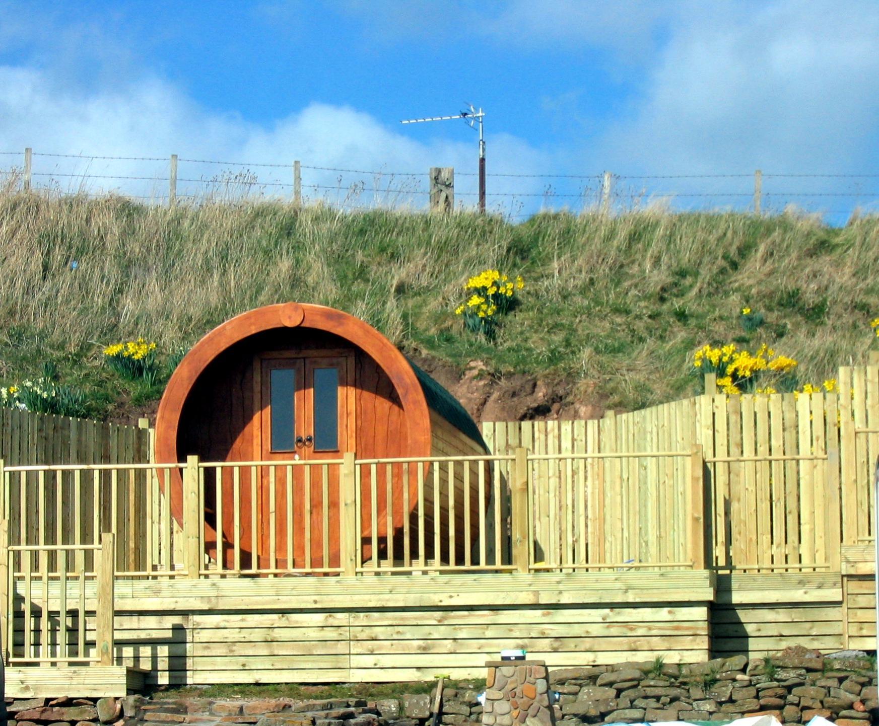 tiny tubular microlodge hobbit house