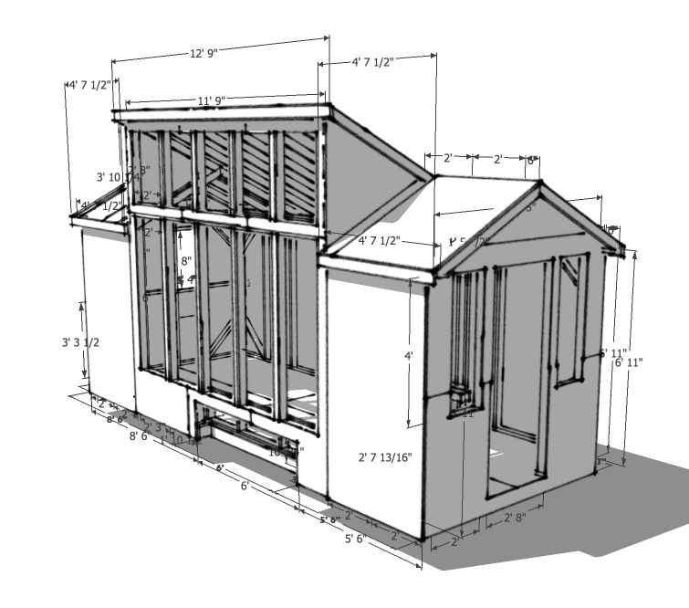8×20 solar tiny house plans – version 1.0