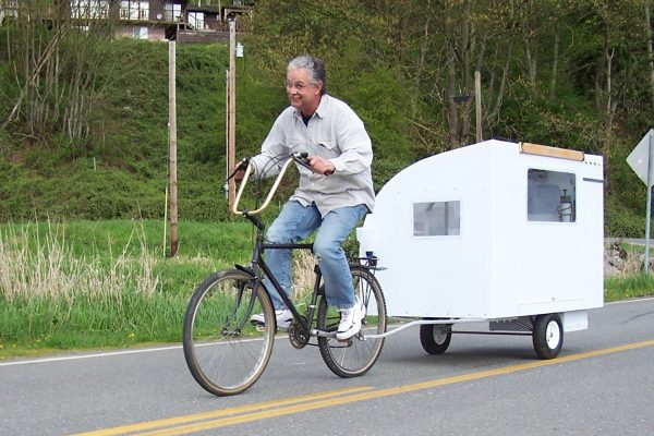 A Real Bike Trailer House test run