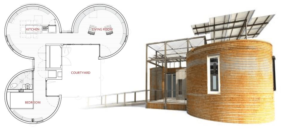 2009 solar decathelon for Silo home floor plans