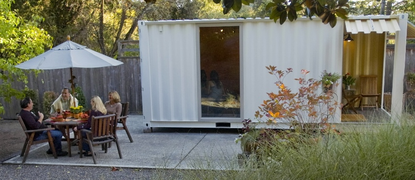 Backyard shipping container office - Container homes portland oregon ...
