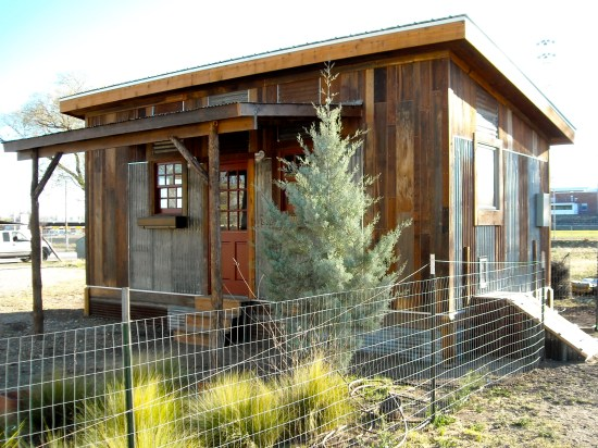 reclaimed space small house side