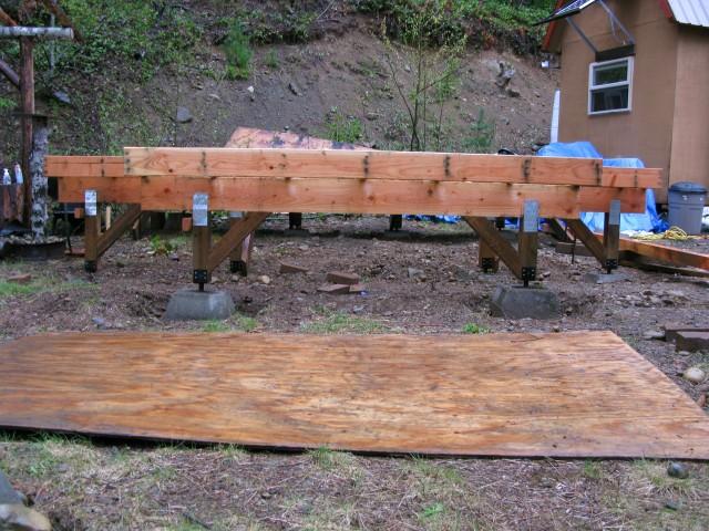 A cabin for solar burrito for Off grid cabin foundation