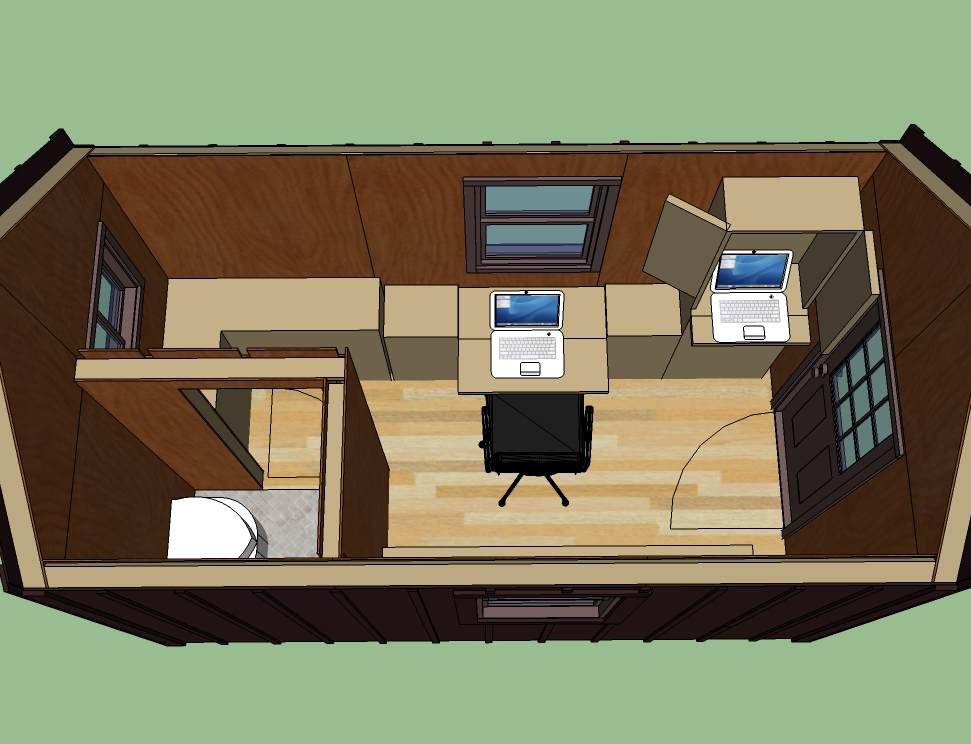 Home office and retreat for Office cabin interior