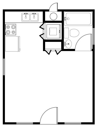 Alternate Floor Plans for the Prospectors Cabin