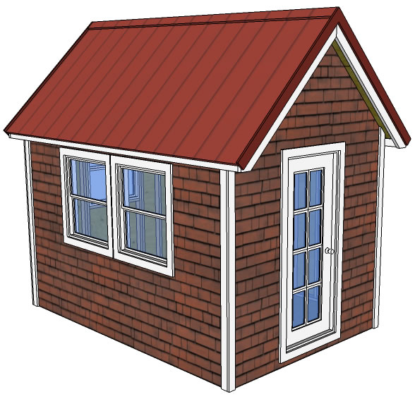This Set Of Free Tiny House Plans Is A Classic 8 X 12 With Pitched Roof The Are 20 Pages And Drawn To Same Level