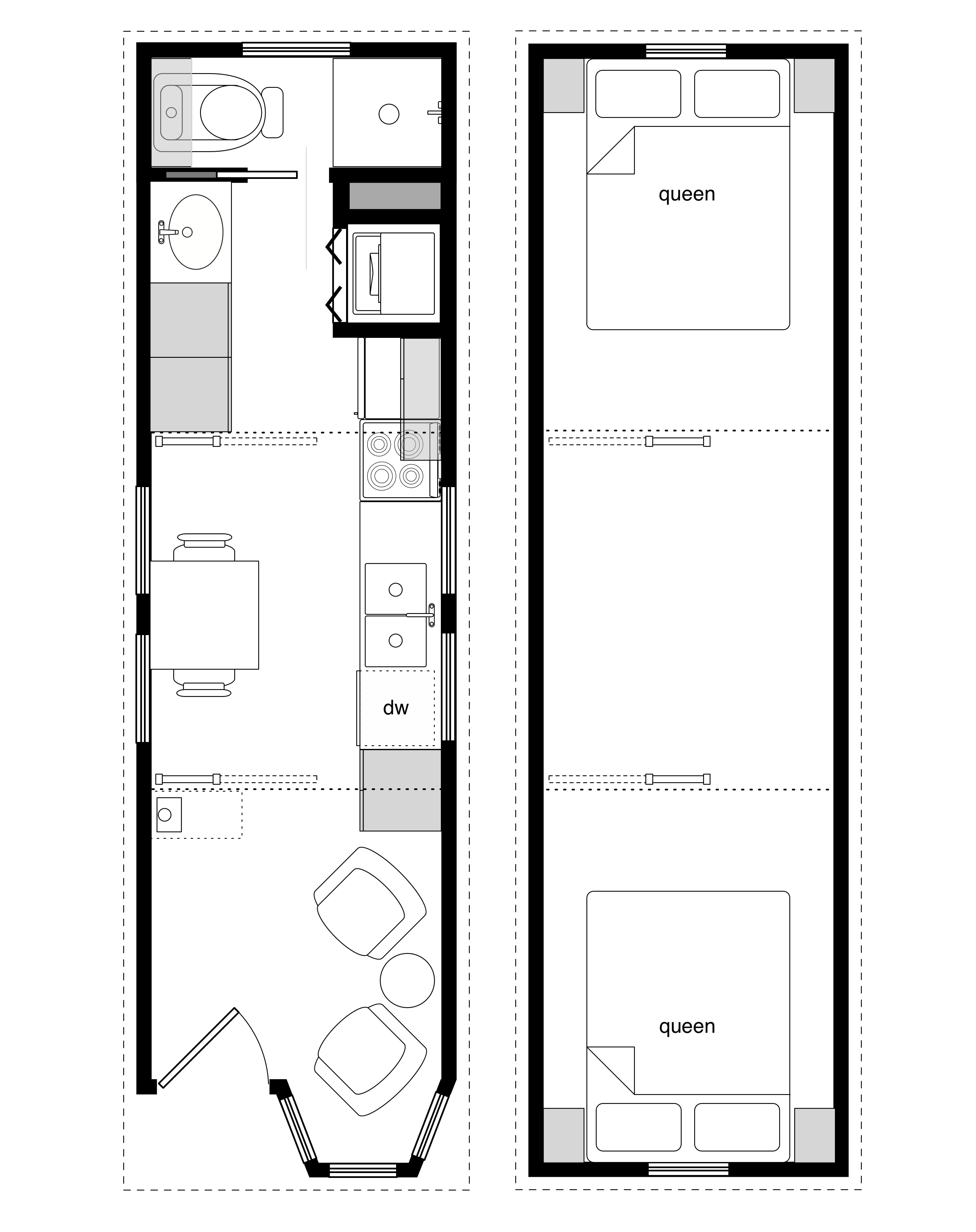 8x28 coastal cottage 3 - View Small House Map Design Sample PNG