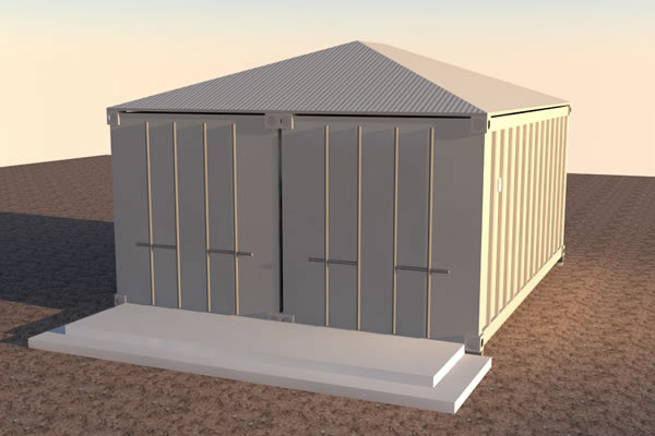 Tiny Home Designs: Shipping Container Cabin Concept
