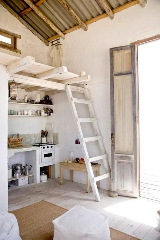 Beach House in Uruguay - Kitchen and ladder