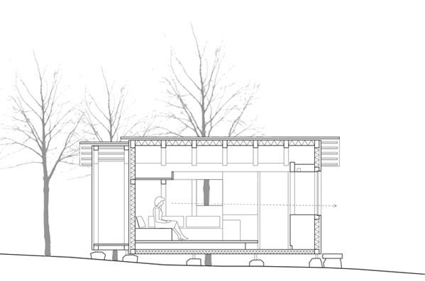 Helsinki Cabin - Cross Section