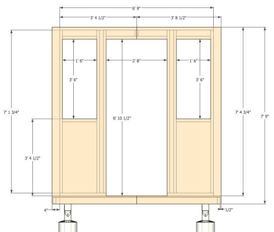 Micro Gambrel - Front Wall