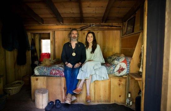 Milanville Cabin - Byan and Lauren in bed - by Backyard Bill