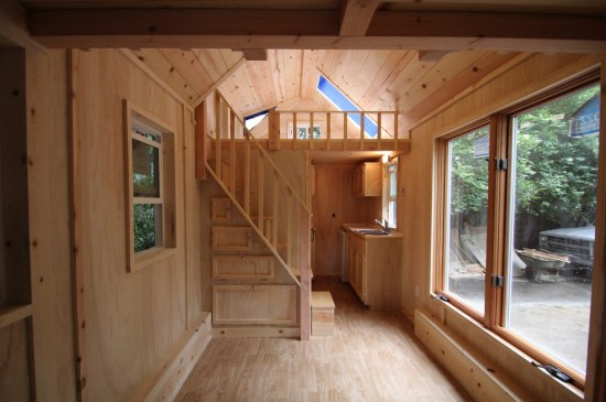 Molecule Tiny Homes with Stairs to Loft