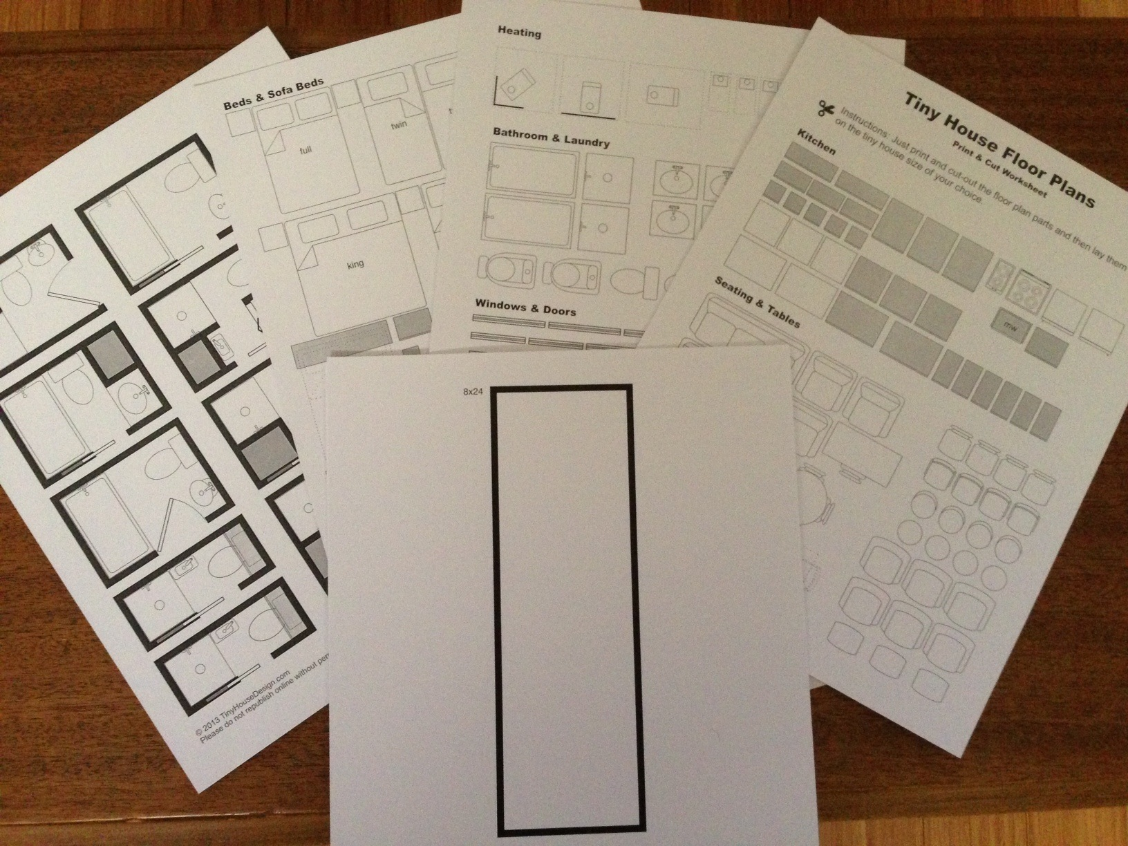 Print Amp Cut Floor Plan Worksheet