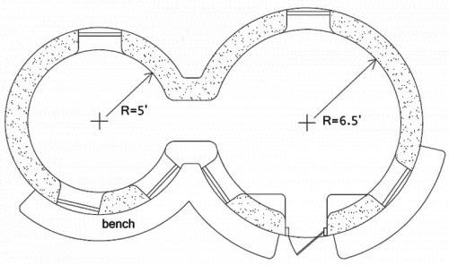 Tinyville Earthbag Dome - floor plan