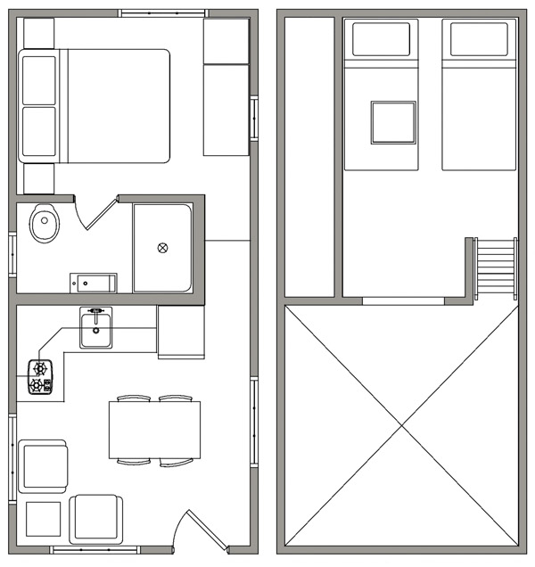 Tiny House Open Floor Plan: Open Trail Homes