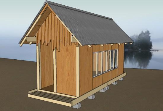 Uncut Tiny House v3 33 Gable Sheathing Boards