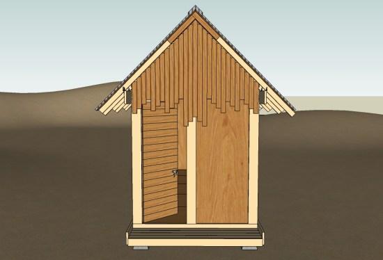 Uncut Tiny House v3 37 Back Door Open