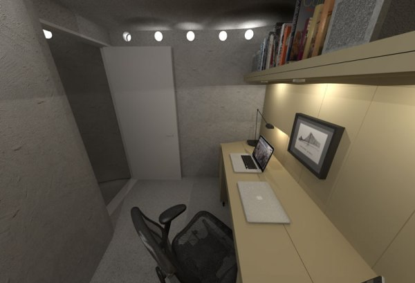 Spiral Shelter - Interior Office 2