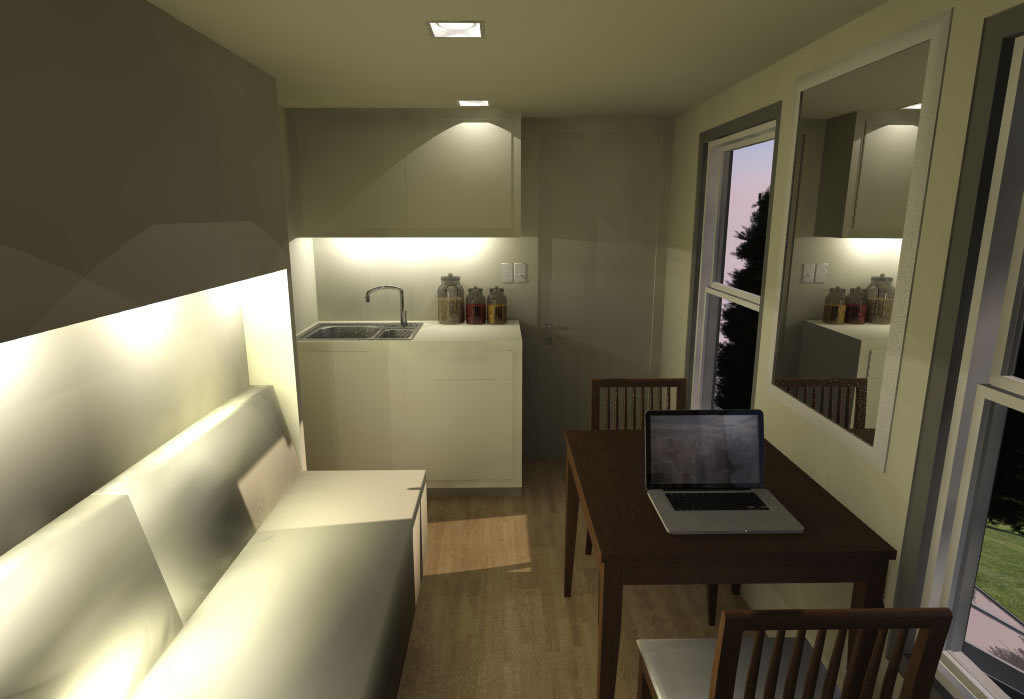 Shipping container based remote cabin design concept - Shipping container bathroom design ...