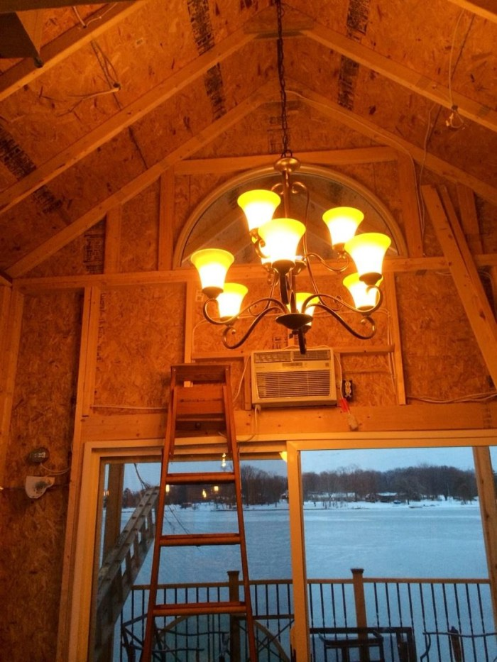 Family Builds Off-Grid Lakeside Cabin Near Columbus, Ohio - interior