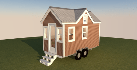 Albion-16-Tiny-House-Plans-Exterior-Front-Left