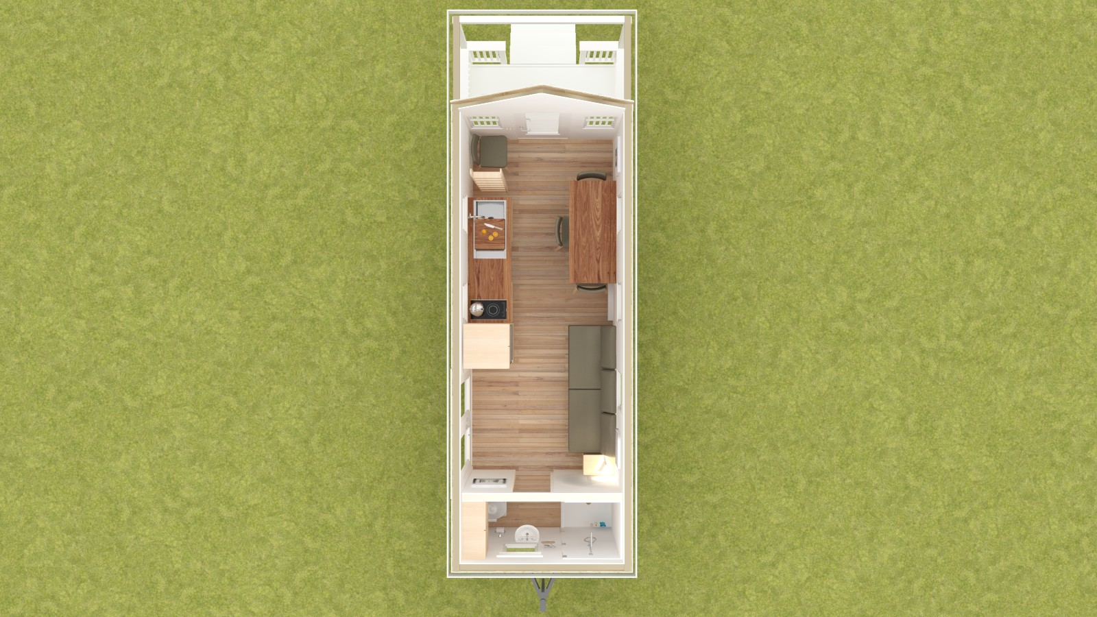Boonville 24 Tiny House Floor Plan Lower Level