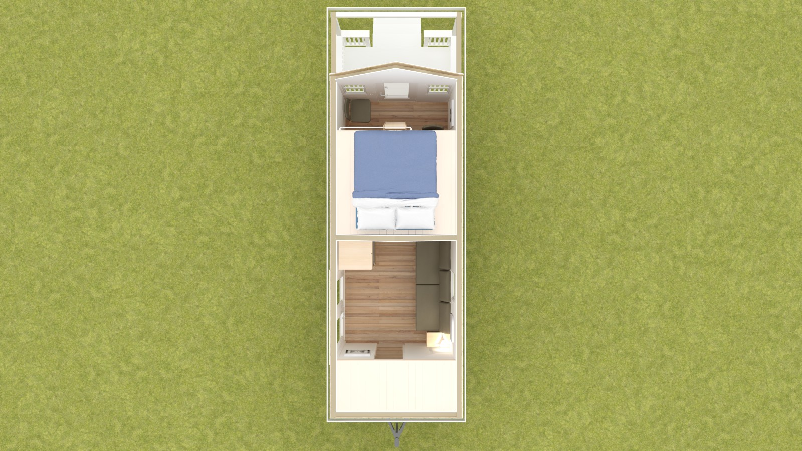 Boonville 24 Tiny House Floor Plan Upper Level