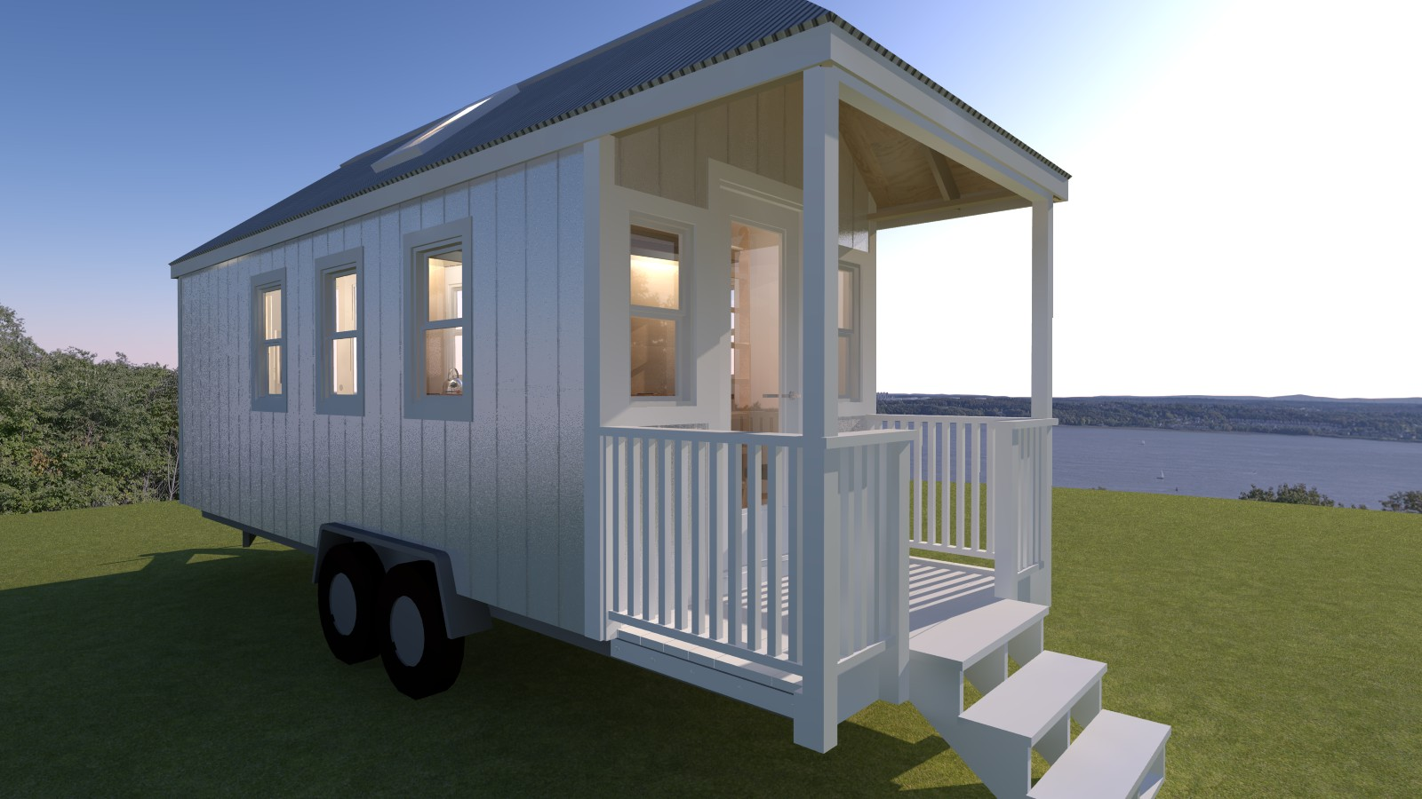 Boonville 24 tiny house plans for Small frontage house designs
