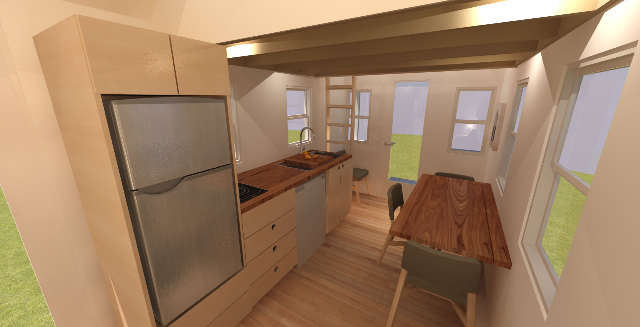 Boonville 24 Tiny House  Interior Kitchen