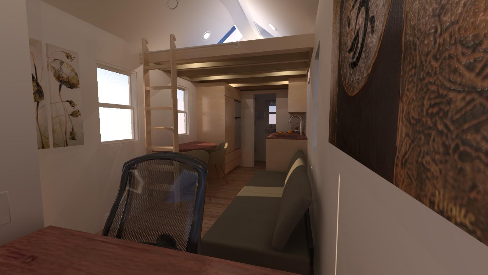 Caspar 20 Tiny House Interior Living Room