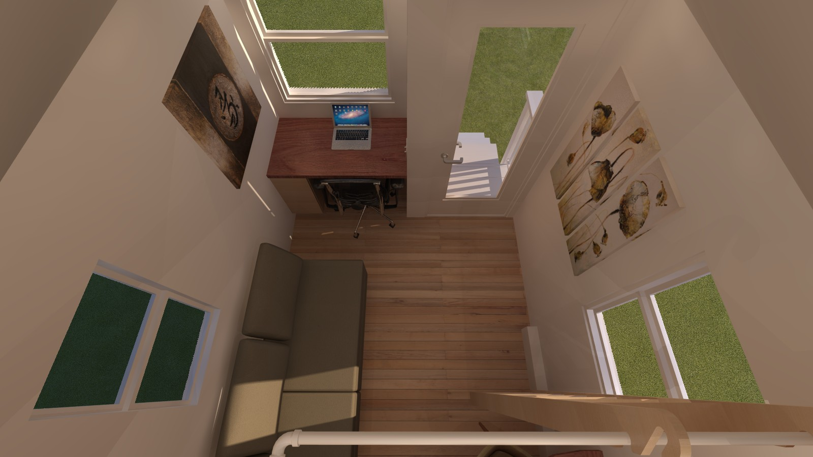 Caspar 20 Tiny House Interior View from Loft