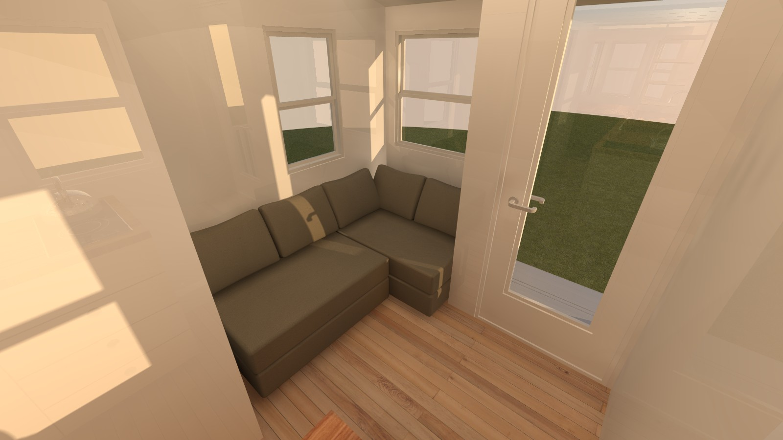 Talmage 20 Tiny House Living Room from Kitchen