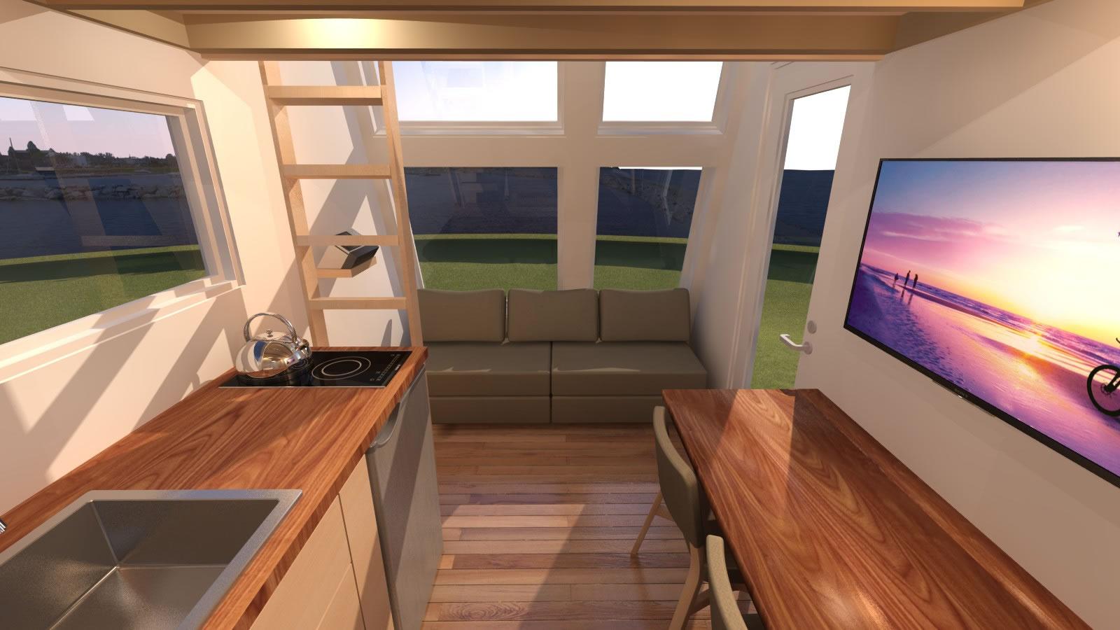 Anchor Bay 16 Tiny House - Living Room