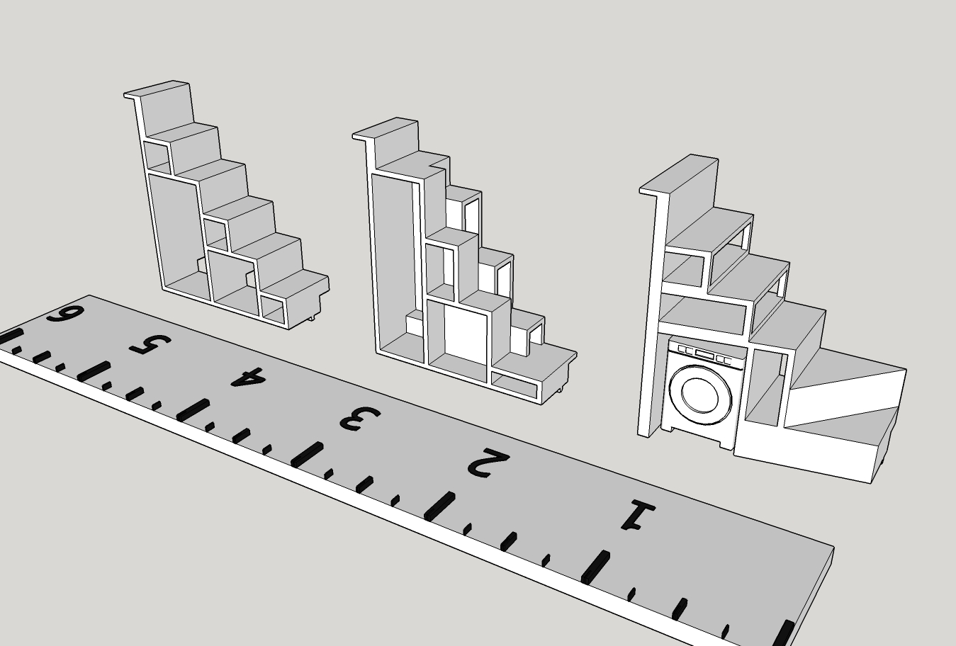 Stair Options Illustration - 3D Printed Tiny House