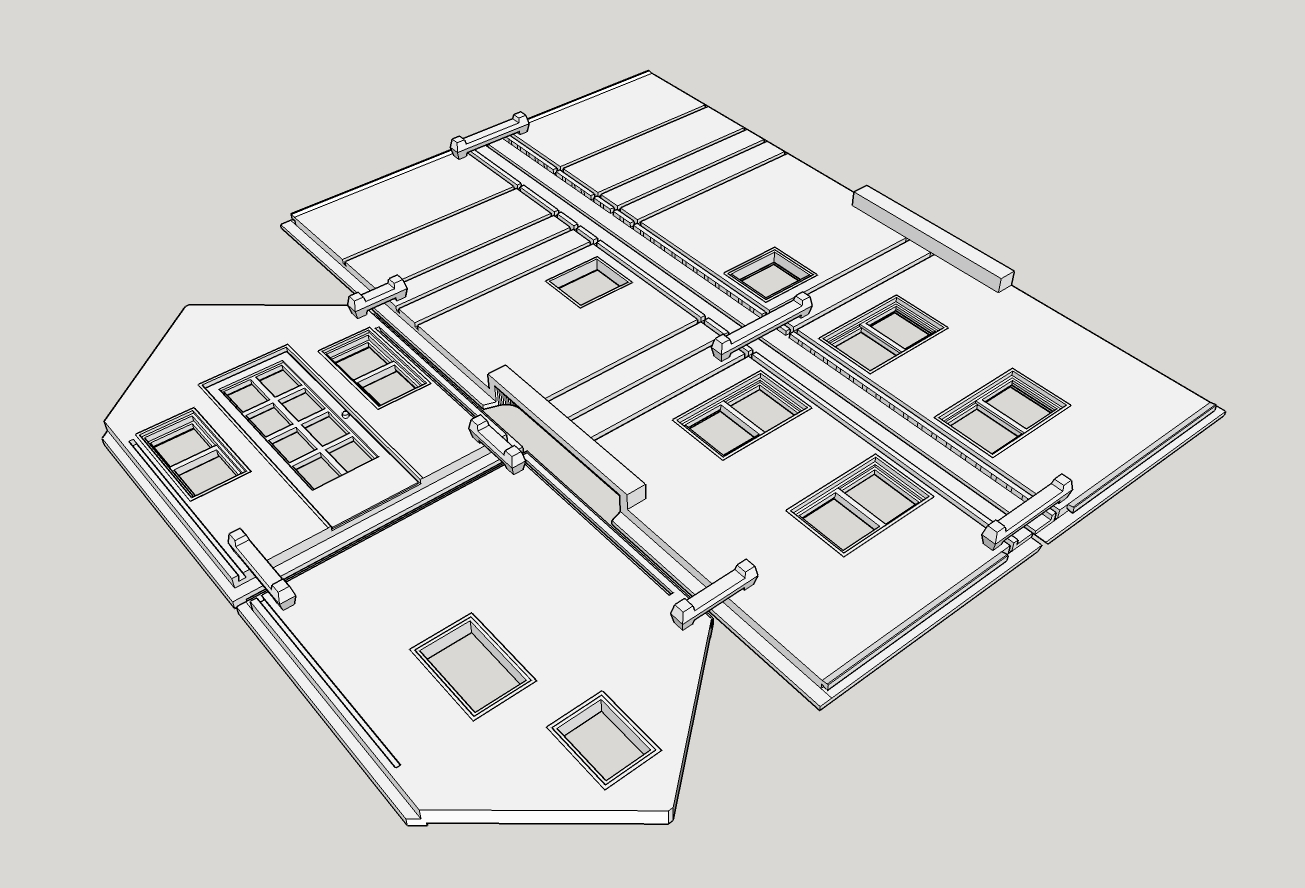 Wall Illustration - 3D Printed Tiny House