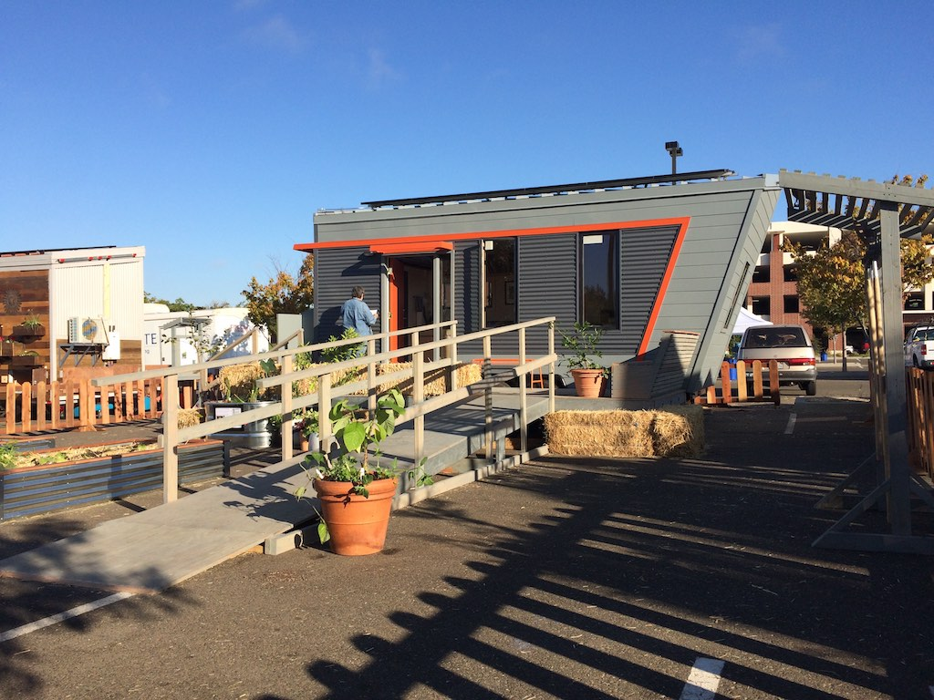 Exterior 2 - The Wedge - Net Zero Tiny House
