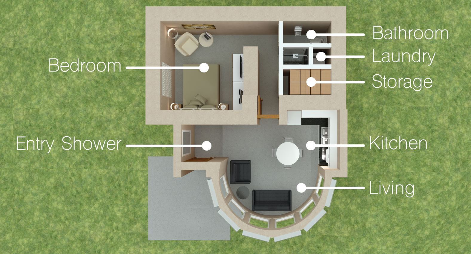 Tiny Fallout Shelter House - Floor Plan